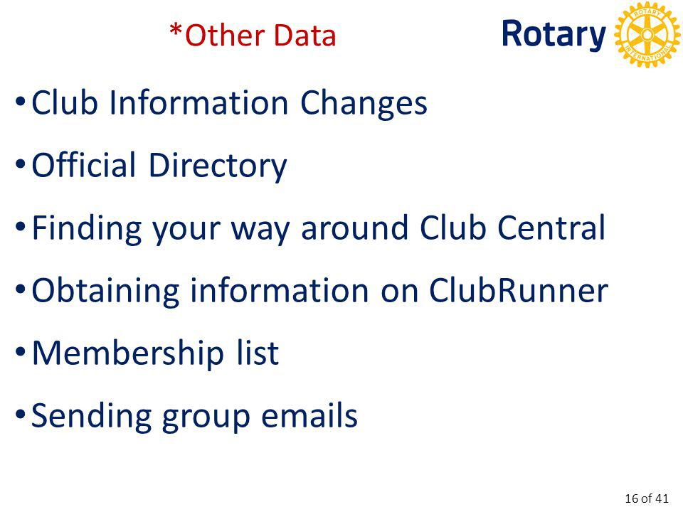 Club Elections & AGM deadline 31 December.