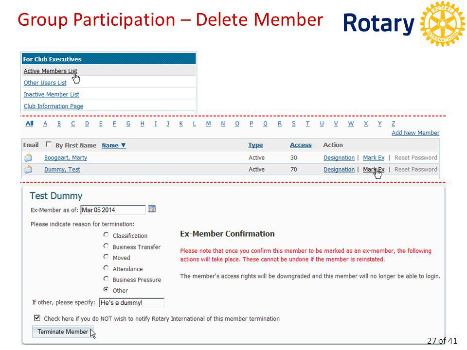 Group Participation – Club Info 1/3 28 of 41