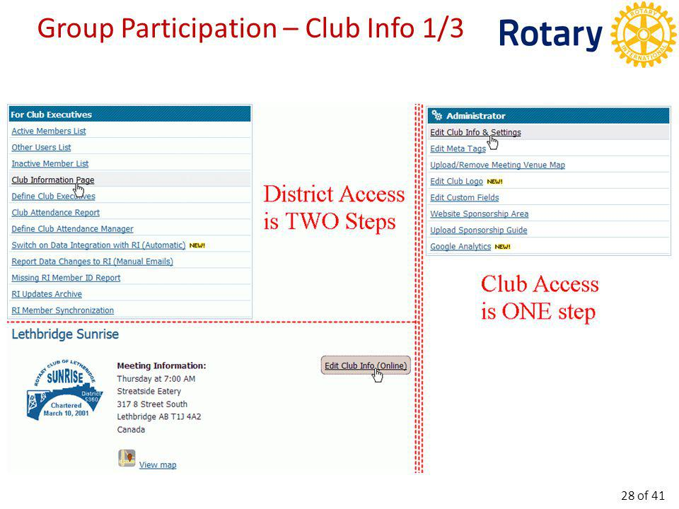 Group Participation – Club Info 2/3 29 of 41