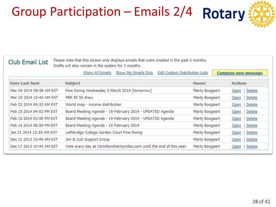 Group Participation – Emails 3/4 39 of 41