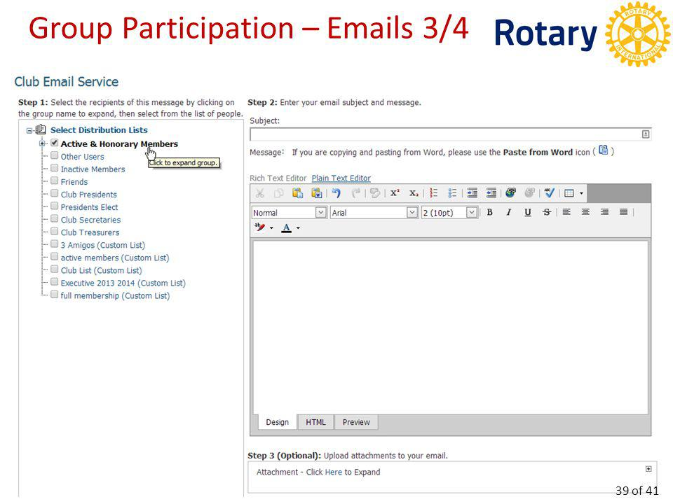Group Participation – Emails 4/4 40 of 41