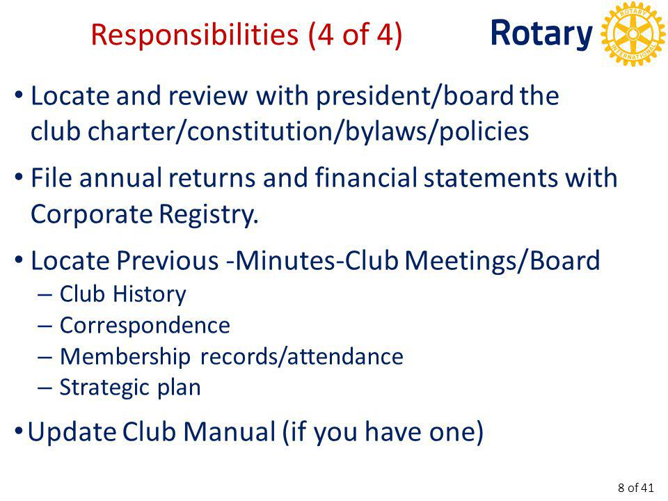 A Typical Board Agenda Template 9 of 41