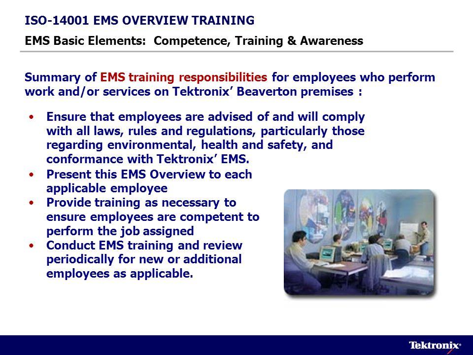 Environmental:503-627-2677 EMS Management Regulatory Compliance & Reporting Env.