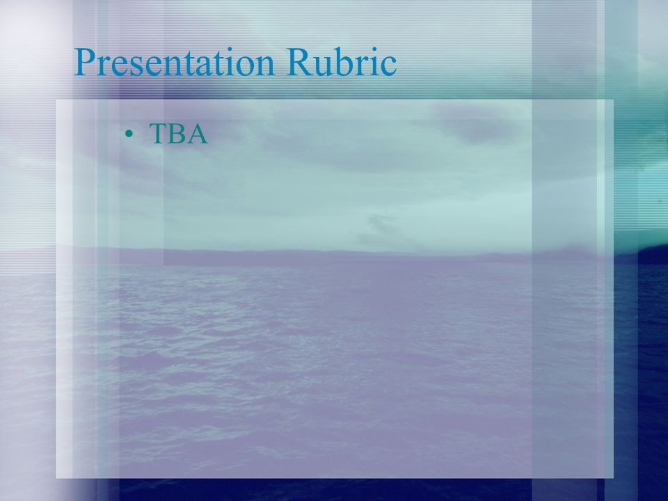 Rubric Author Study/Project= 25% Literature Exams= 25% Literary Elements= 25% Presentation= 25% –Rubrics for individual categories are forthcoming.