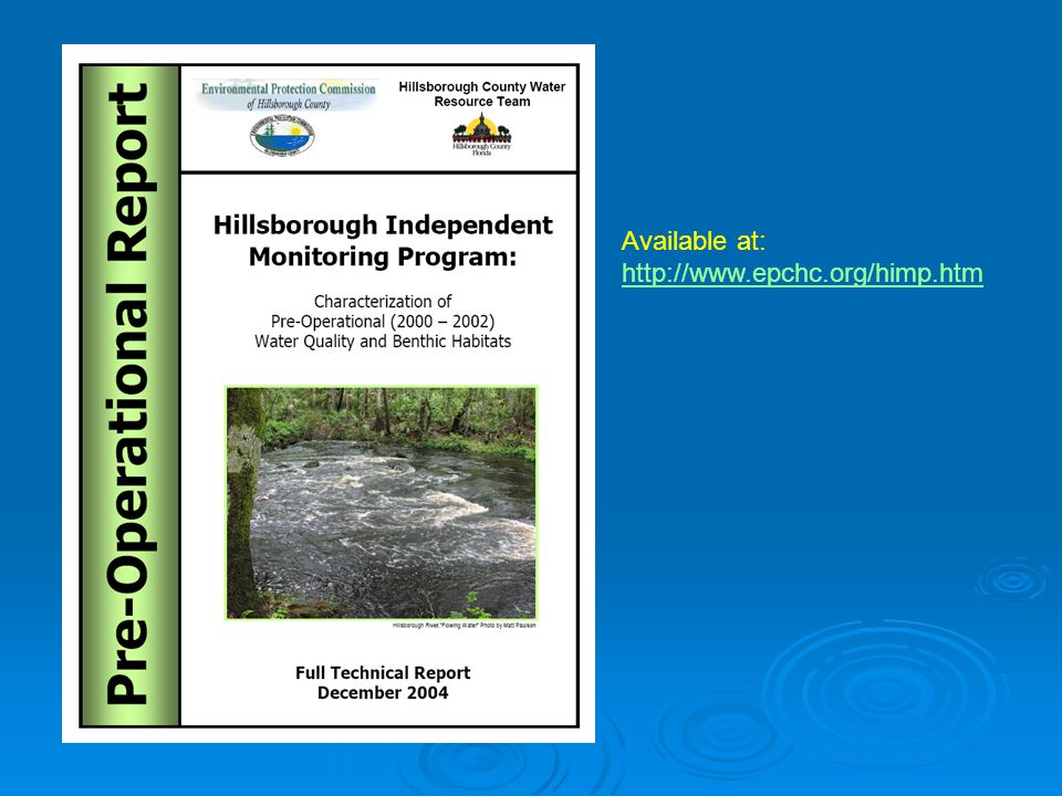 EPCHC long-term surface water monitoring network TIDAL FRESHWATER