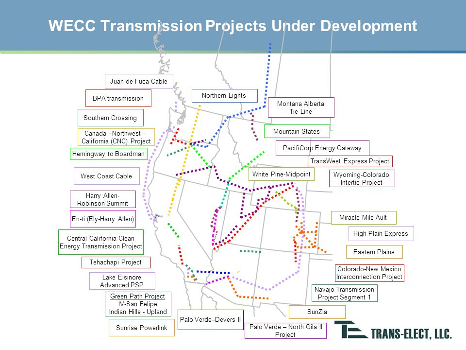 (courtesy of the Wyoming Infrastructure Authority) Wyoming Transmission Projects Including Two Public/Private Partnerships involving Trans-Elect
