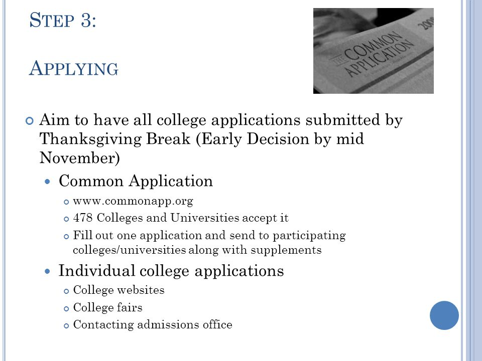 NJ S CHOOLS THAT A CCEPT THE COMMON APPLICATION 1.