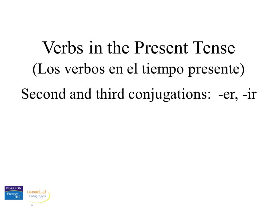The infinitive: The basic, unconjugated form of the verb.