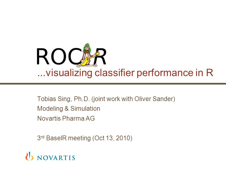 2 Q: When can ROCR be useful for you.Not only in machine learning.