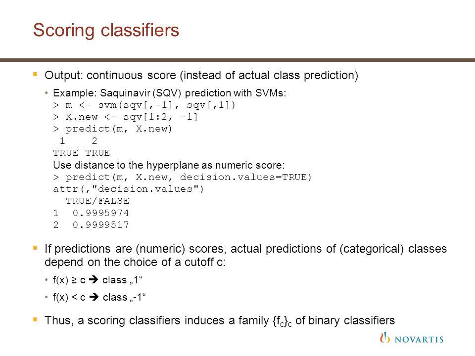 7 Binary classifiers (1/2) Prediction – outcomes