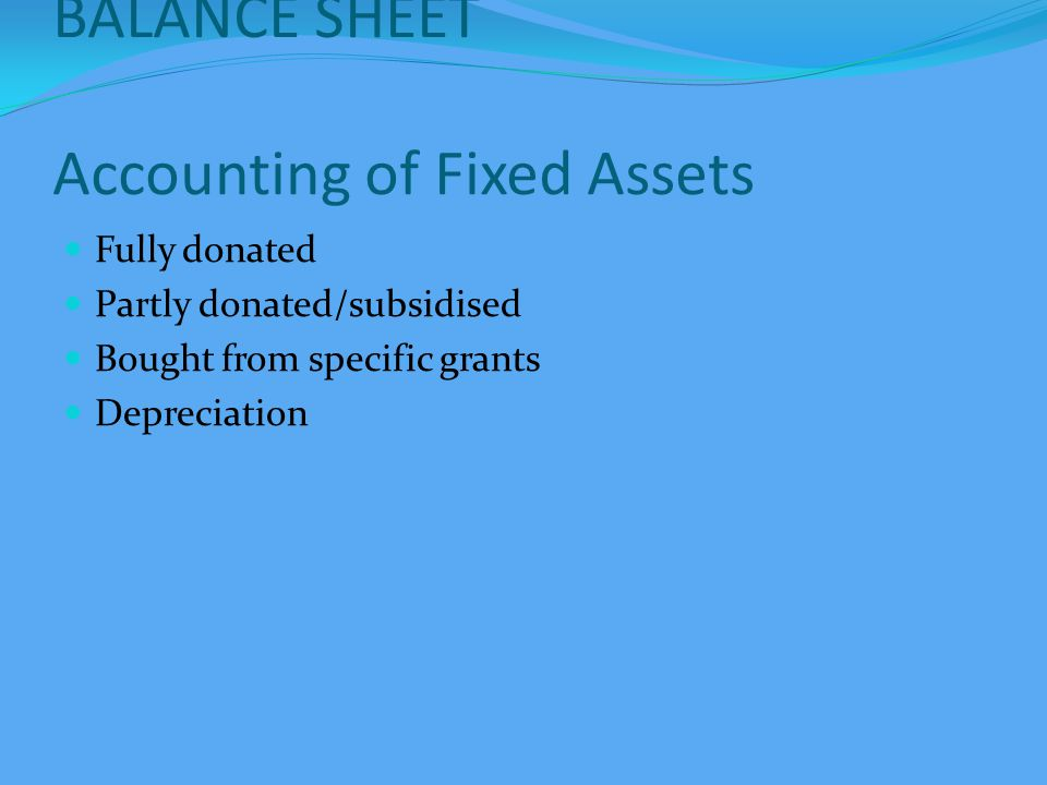 BALANCE SHEET Investments Approved List Corpus Investments Special Fund Investments Interest Accrued