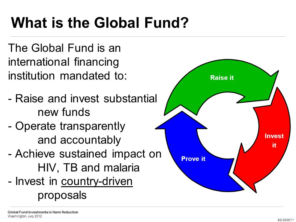 Global Fund Investments in Harm Reduction Washington, July 2012 BG/290607/1 What is Harm Reduction.