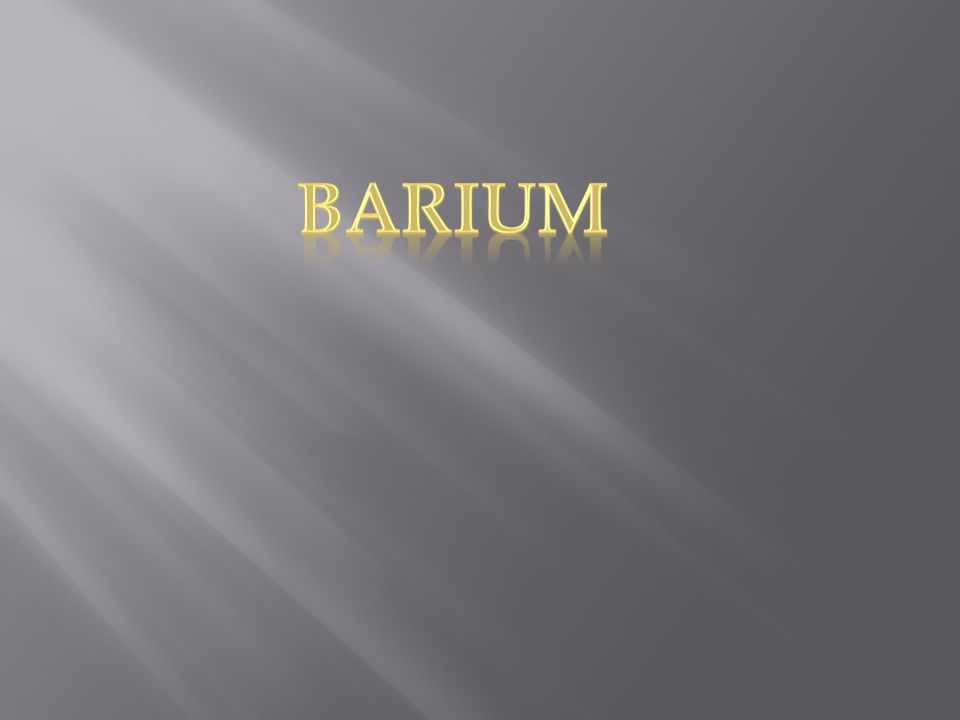  The symbol for barium is Ba. It is a silvery white metal.