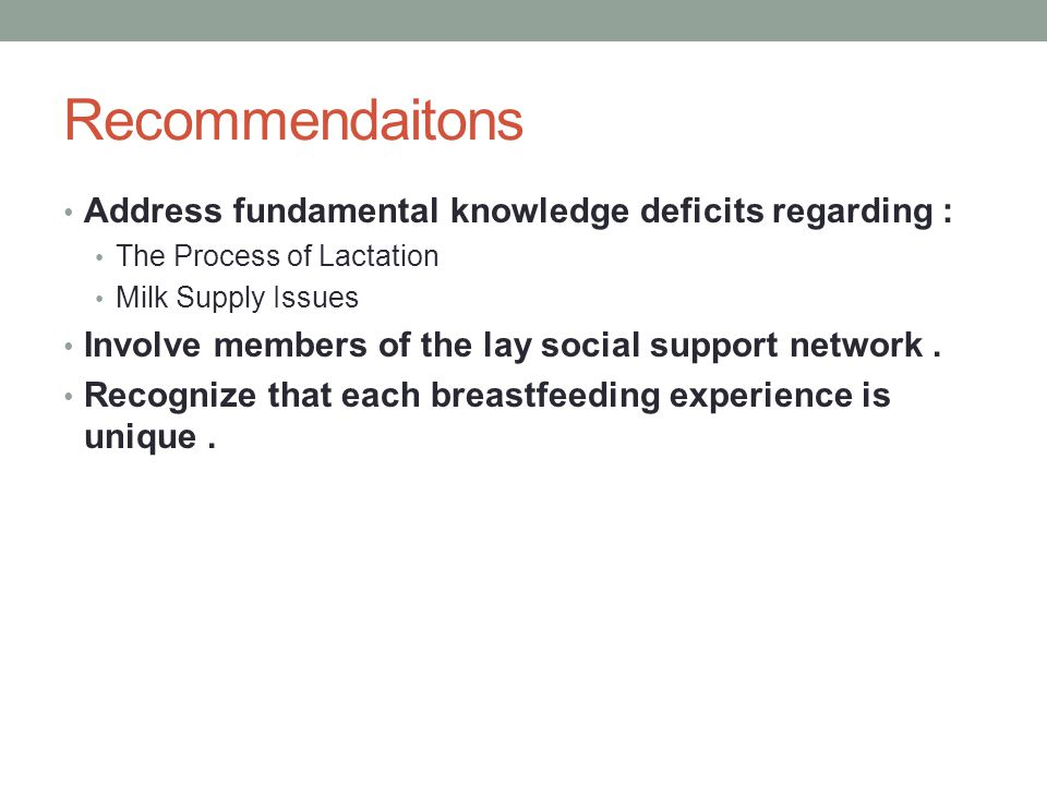 Recommendations Help to cope with outside influences such as work and school.