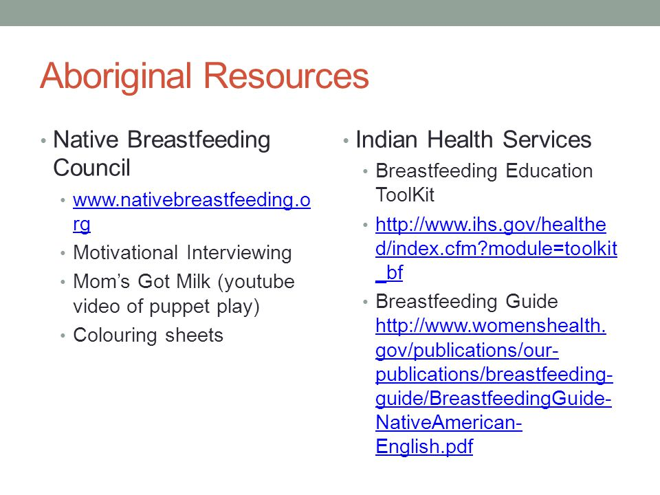 Motivational Interviewing for Native Women: Breastfeeding Providers can make a difference.