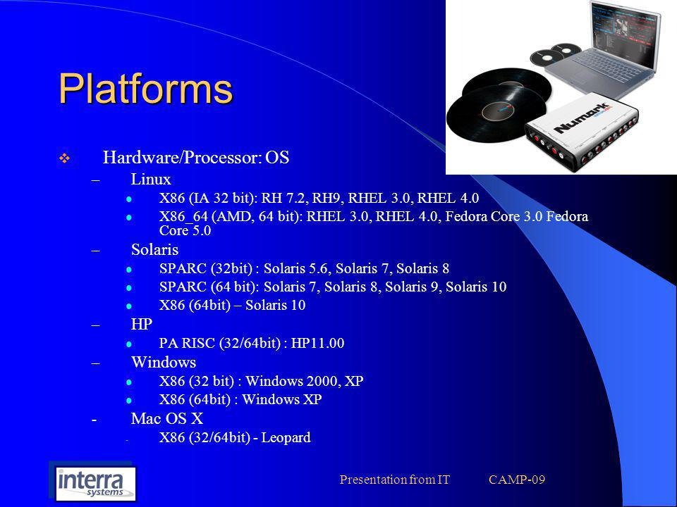 Presentation from IT CAMP-09 Compilers … Compilers … Linux – GCC 2.96, 3.2.1, 3.4.3..