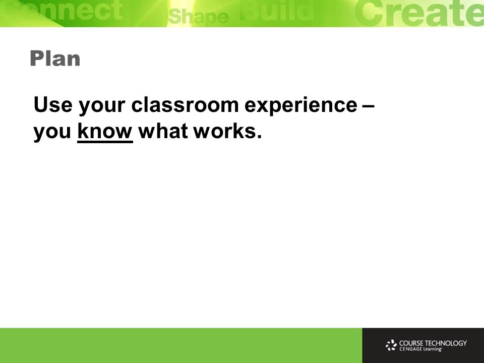 Plan Include sample tasks and answers for students can review – they should be same difficulty level as real tasks.