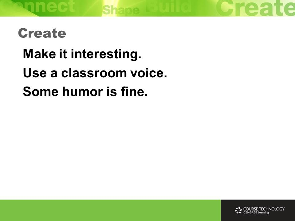 Use pause/resume to allow students time to answer. Example Create