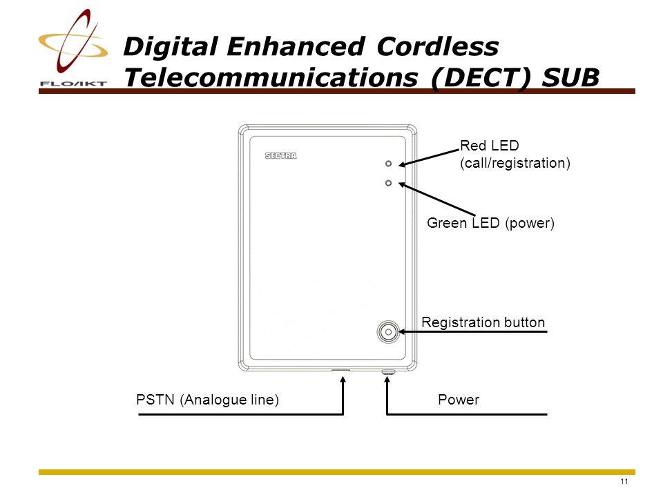 12 Digital Enhanced Cordless Telecommunications (DECT) SUB Public network