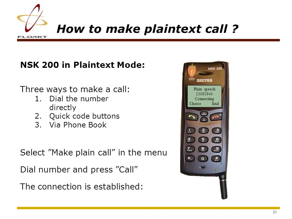 22 How to make encrypted DECT call .