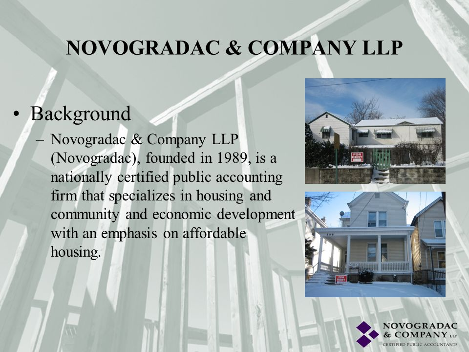 Background –Novogradac was once again designated a Best of the Best firm by INSIDE Public Accounting (formerly Bowmans Accounting Report).