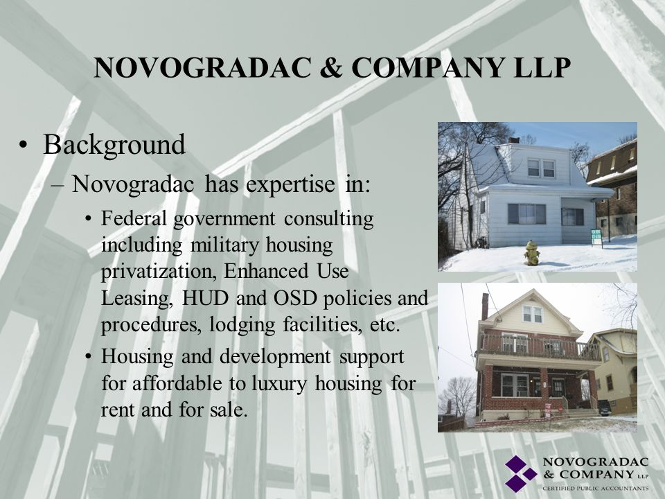 Background –During the past ten years, Novogradac has consulted on over 4,000 projects nationally.