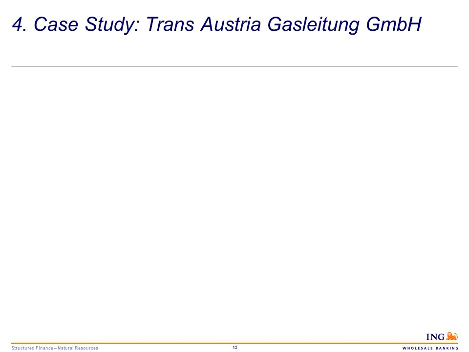 Structured Finance – Natural Resources 14 Company Background Trans Austria Gasleitung GmbH ( TAG ) is a natural gas transmission company which holds the transportation rights to the TAG pipeline system, a 382-km pipeline stretching across Austria from the border with Slovakia to the border with Italy.