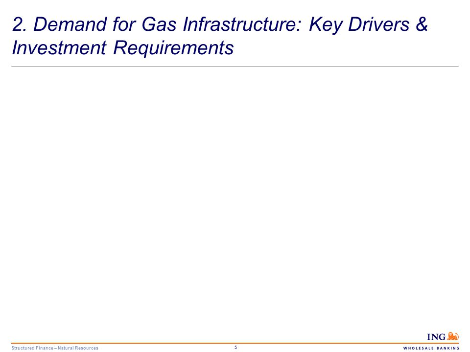 Structured Finance – Natural Resources 6 Demand for Gas Infrastructure Key Drivers Declining indigenous production combined with growth in gas demand will increase dependency on gas imports.