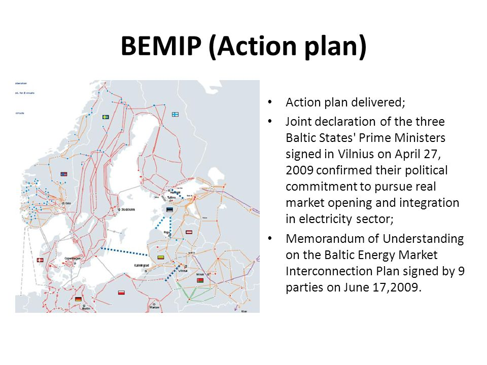 Vision and Baltic Market design, 2015 Vision: Creation of Pan-Baltic single harmonized electricity market integrated with Nordic market and further on also with Central and Eastern European markets.
