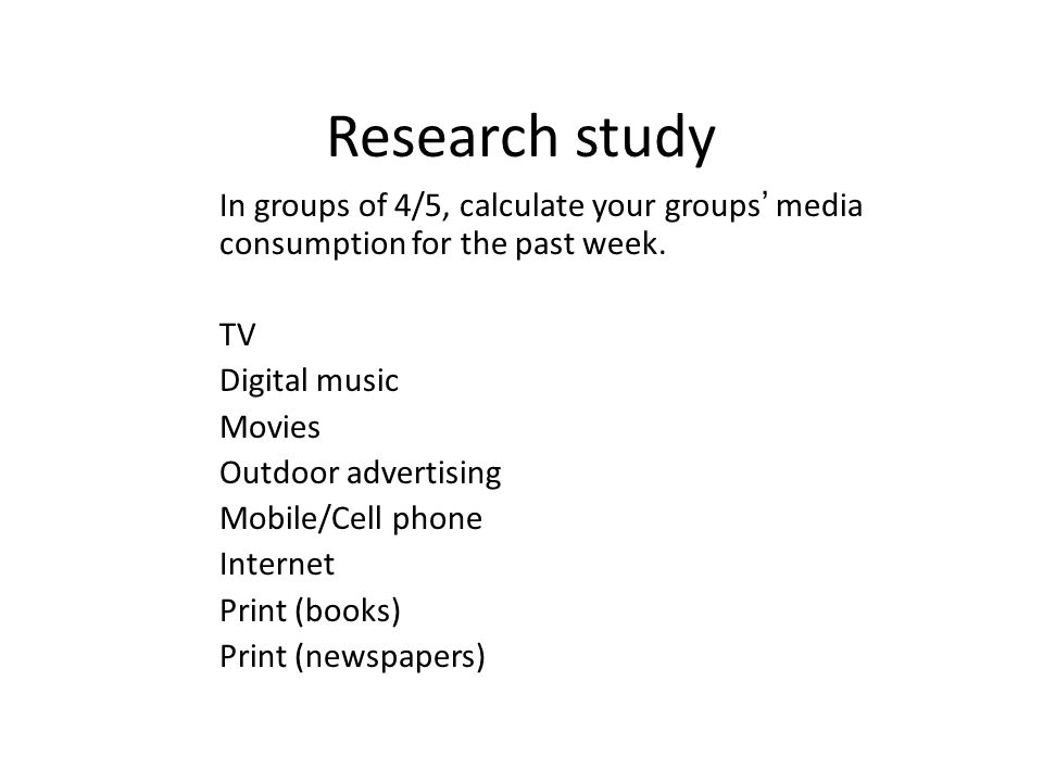 Now compare how much time sleeping or talking to others… Does media have an influence on you?