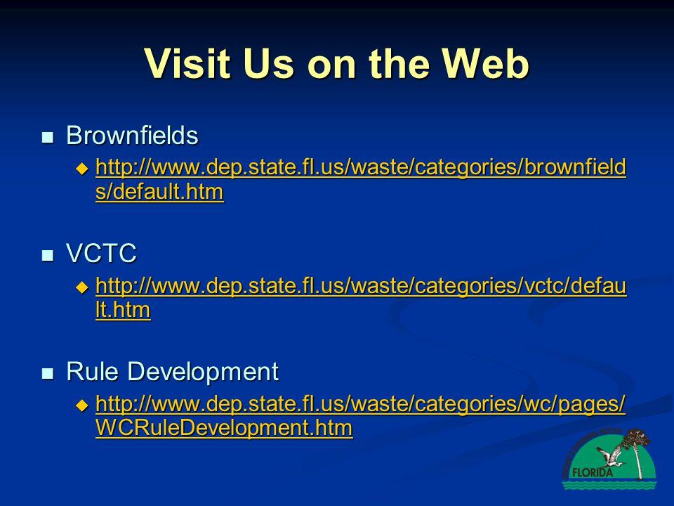 Northwest District, Pensacola Alex Webster850.595.0664 Alex.Webster@dep.state.fl.us Northeast District, Jacksonville Darrin McKeehan904.807.3251 Darrin.McKeehen@dep.state.fl.us Central District, Orlando George Houston407.894.7555 George.Houston@dep.state.fl.us Florida Brownfields Liaison Kim Walker850.245.8934 Kim.Walker@dep.state.fl.us Voluntary Cleanup Tax Credit Program Teresa Booeshaghi850.245.8933 Teresa.Booeshaghi@dep.state.fl.us DEP DISTRICT BROWNFIELD COORDINATORS Southwest District, Tampa John Sego813.632.7600 John.R.Sego@dep.state.fl.us Southeast District, West Palm Beach Art Torvela561.681.6676 Art.Torvela@dep.state.fl.us South District, Ft.