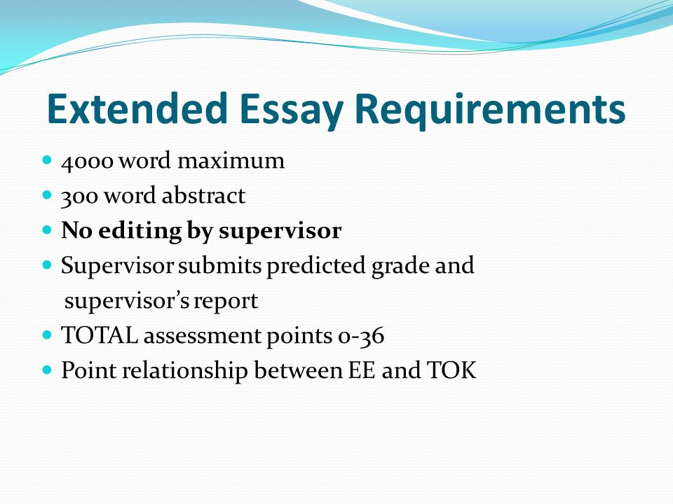 Regulations From 2010 onwards, 28 points overall will be required to be eligible for the diploma if a student attains an E grade in either the Extended Essay or Theory of Knowledge.