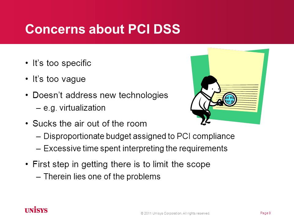 More concerns about PCI DSS Why comply.