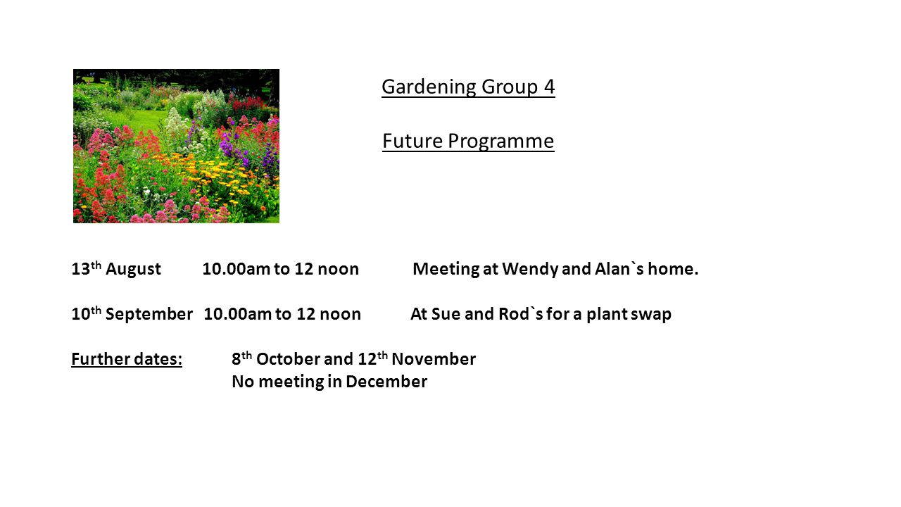 New Groups Art Appreciation This group will hold its first meeting on Monday 14 th July, 2014 at St.