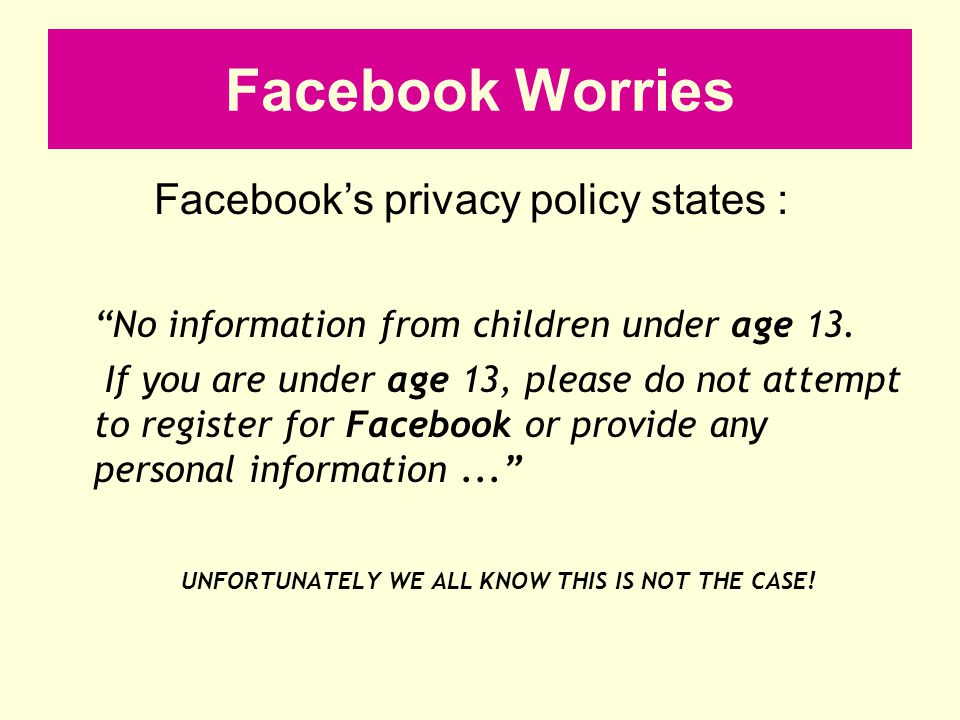 Please check your child's privacy settings.