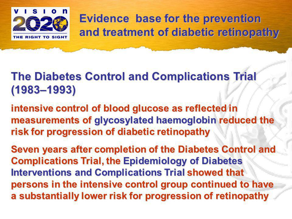 The United Kingdom Prospective Diabetes Study (1977–1999) it highlighted the independent role of systemic hypertension (or its control) in potentiating the development and worsening the progression of diabetic retinopathy.