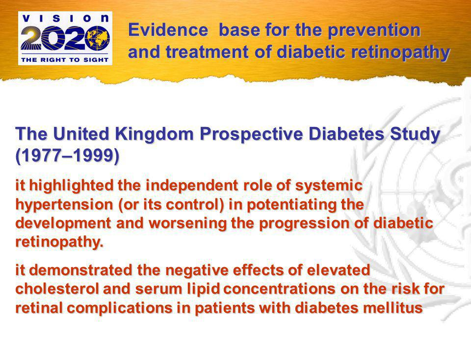 WHO Publication WHO Publication Prevention of blindness from diabetes mellitus (Report of a WHO consultation in Geneva, Switzerland 9-11 November 2005) General Recommendations Diabetic Retinopathy Control - Public Health Concept - Public Health Concept