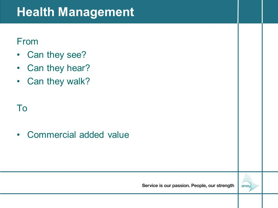 A straw poll of management.