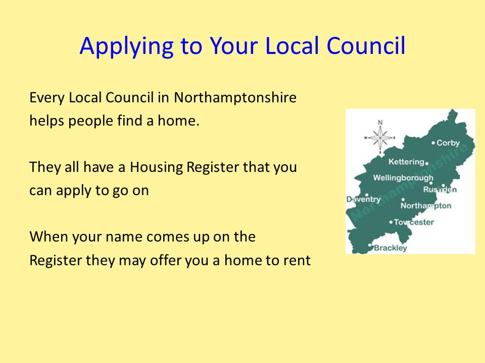 How The Housing Register works Most Councils run a Choice Based letting System to decide whose needs are highest for a home.