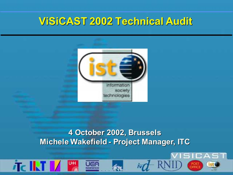 The ViSiCAST Project Virtual Signing Capture Animation Storage and Transmission