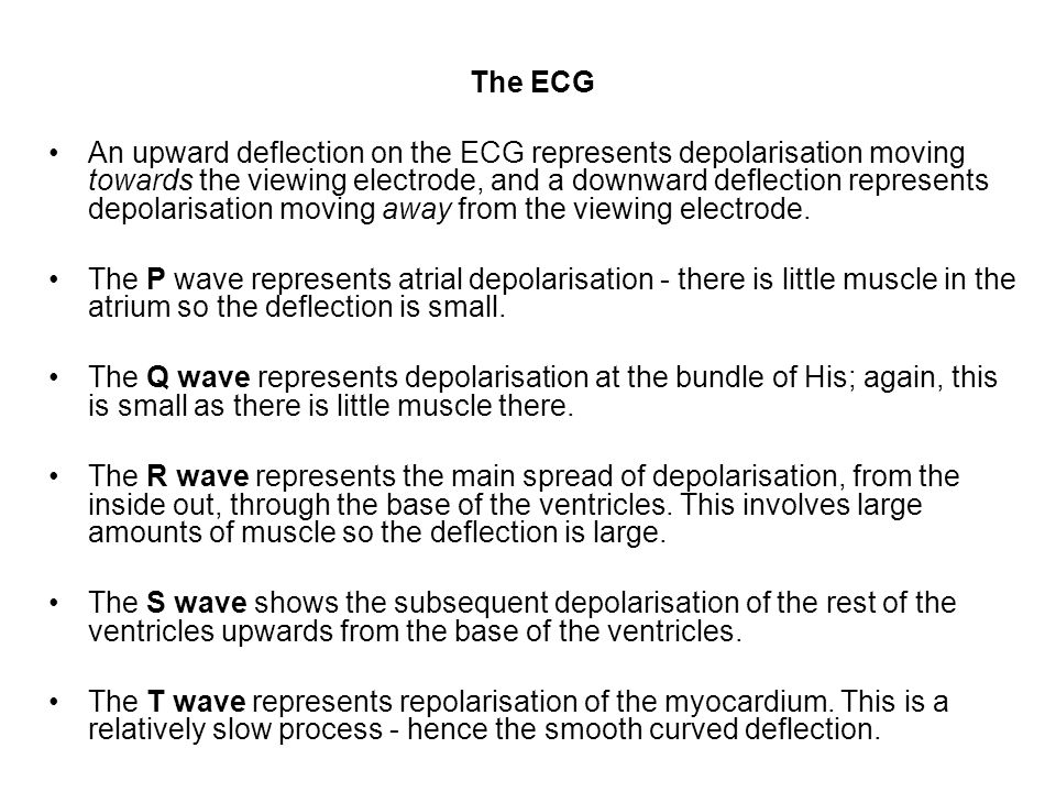 ECG changes in myocardial infarction The changes in the ECG are seen in the leads adjacent to the infarct.