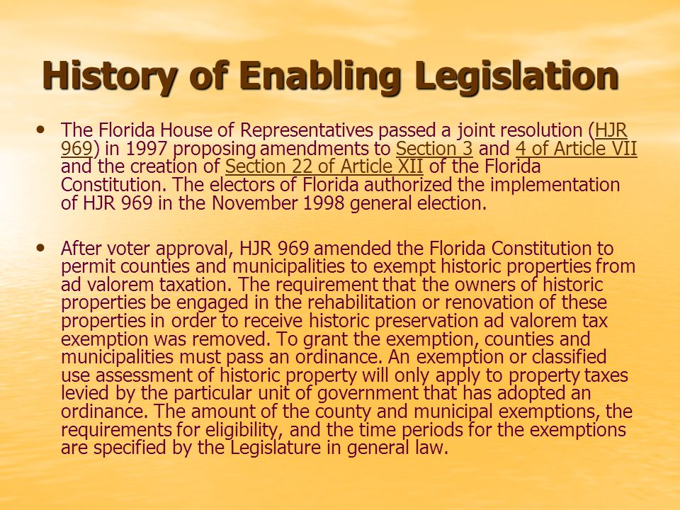 The 1997 Legislature enacted Chapter 97-117, Laws of Florida, effective on the date the amendment to the Florida Constitution that authorized this act was approved by the electors in November 1998.