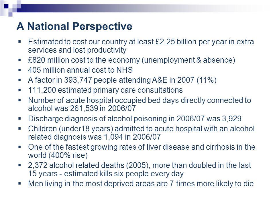 A Local Perspective East Dunbartonshire Alcohol Statistics 2007-08 ???