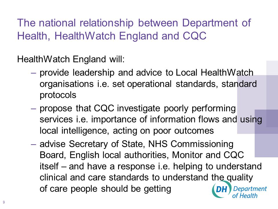 10 What relationships need building and strengthening… Health and wellbeing board – stronger role, capacity to join up and make commissioning decisions; different role and skills for HealthWatch; ensuring Local HealthWatch is inclusive and diverse representing its communities i.e.