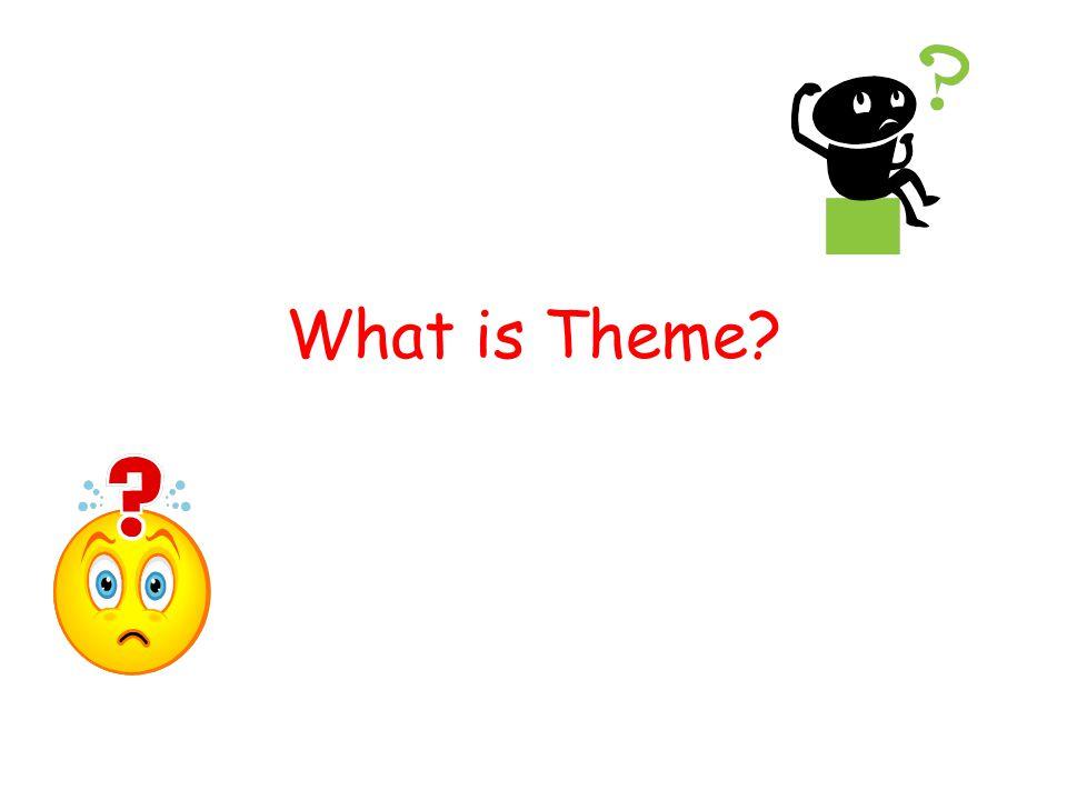 How do I determine the theme of a story or novel.