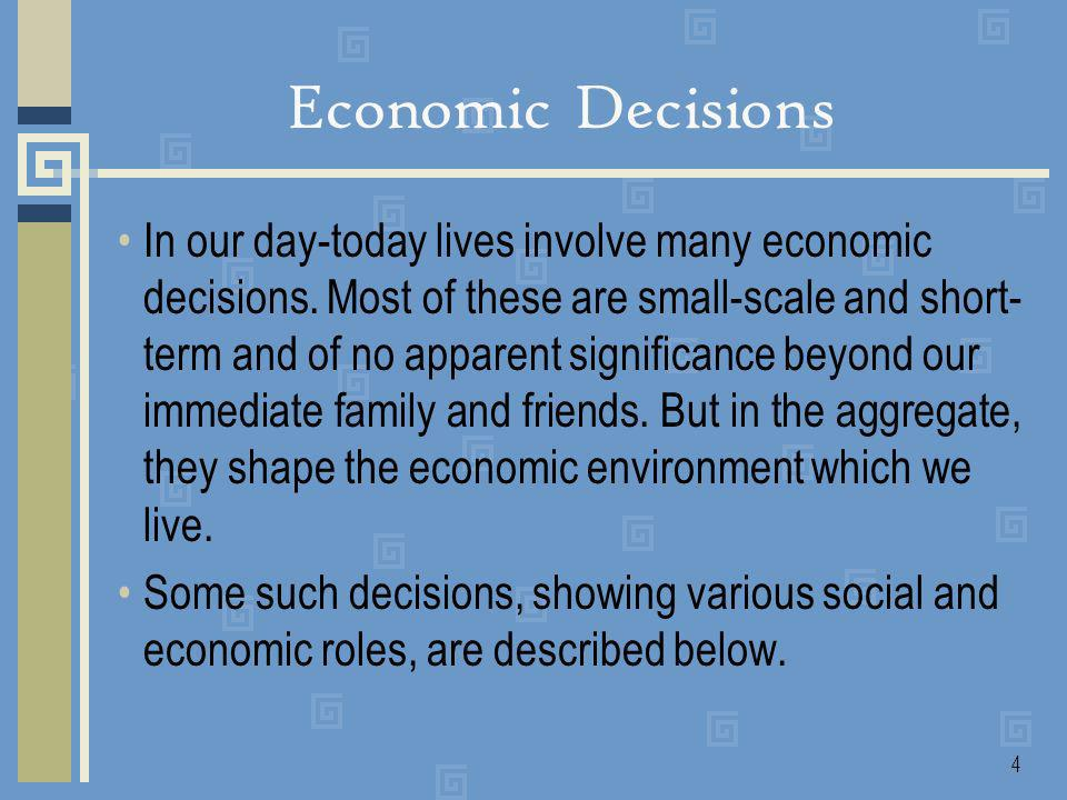 5 As students invest in our economic future and pursue personal development.