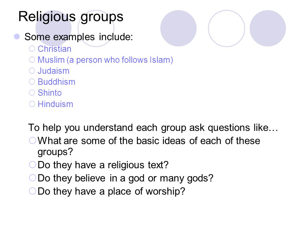 It can be confusing because… By sharing a common religion, people can belong to the same ethnic group BUT A religious group can include many different ethnic groups You may be asking HUH?, WHAT?