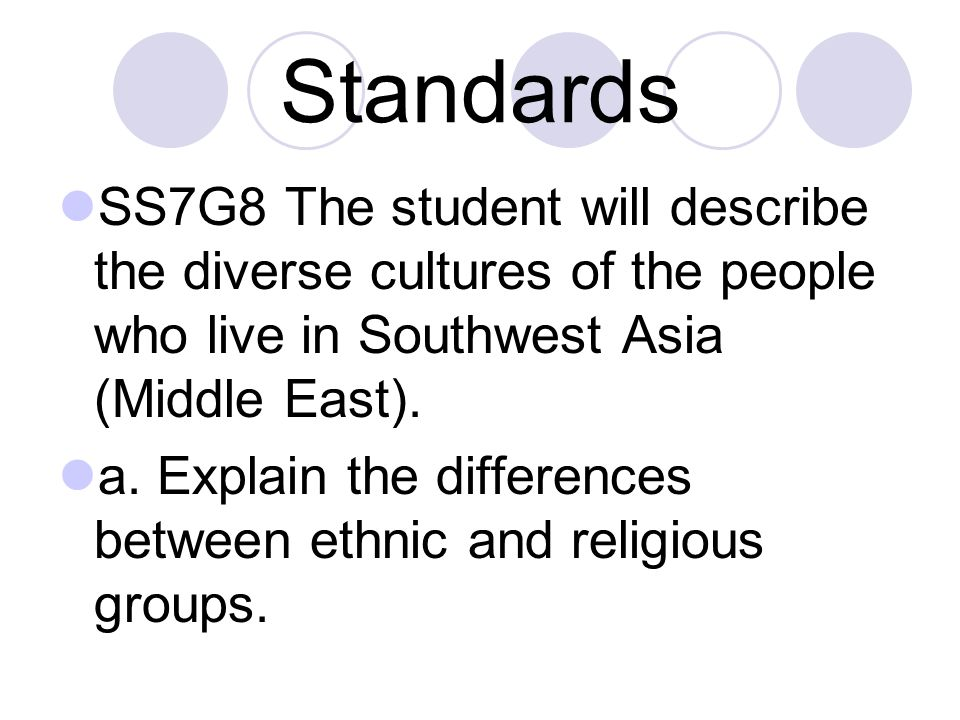 Essential Question What is the difference between an ethnic group and a religious group?