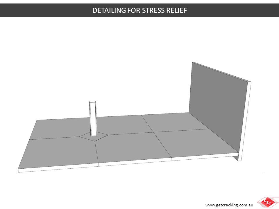 www.getcracking.com.au SUBGRADE RESTRAINT Stress due to subgrade restraint depends on Subgrade material Length of pour