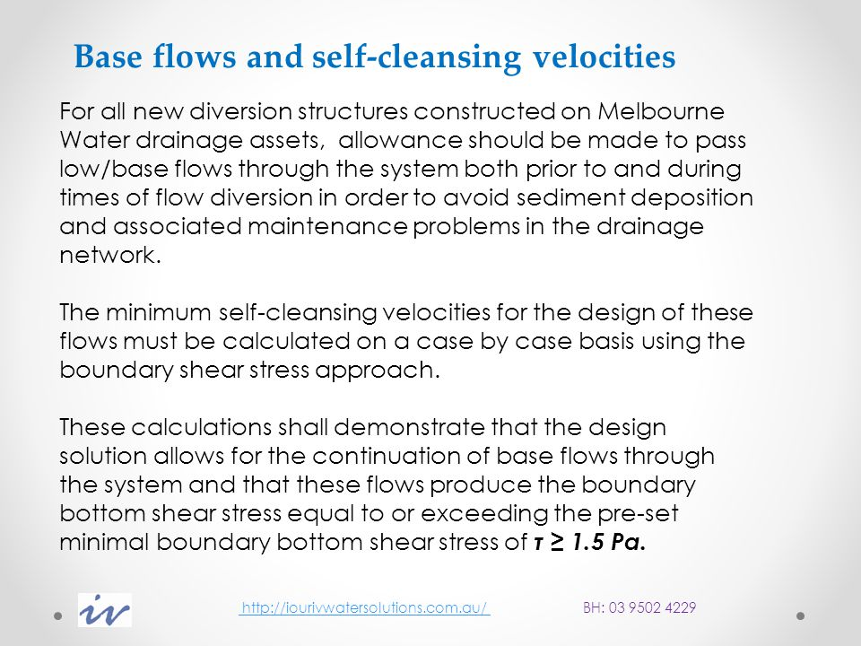 Design Examples http://iourivwatersolutions.com.au/ http://iourivwatersolutions.com.au/ BH: 03 9502 4229